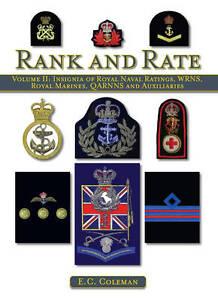 Insignia of Royal Naval Ratings, WRNS, Royal Marines, QARNNS and Auxiliaries Ran