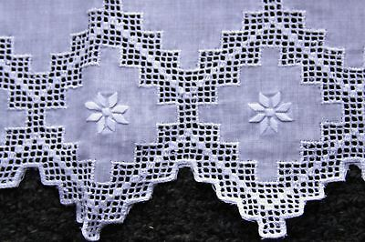 12 Pieces Fine Linen Hemstitch Embroidered Embroidery Lace Guest Towel 14x22