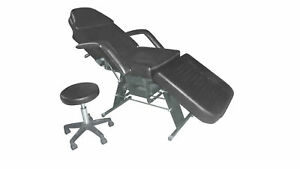 New-BestSalon-Black-Facial-Tattoo-Bed-Massage-Table-Chair-Salon-Free-Bolste-26B