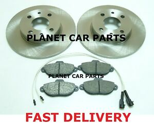 FIAT-PUNTO-1-2-8V-MK2-1999-2005-FRONT-2-BRAKE-DISCS-AND-PADS-SET-NEW-KIT