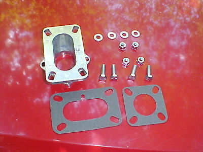 2 barrel carb to 1 barrel manifold adapter,rat rod,new,chevy ford jeep 258