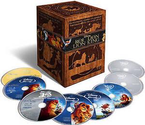 The Lion King Trilogy (Blu-ray/DVD, 2011, 8-Disc Set, Canadian Diamond...
