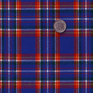 ACRYLIC-DERSS-CLOTH-FABRIC-SCOT-TARTAN-CHECK-PLAID-BLUE