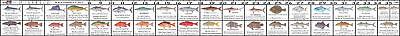 Florida Saltwater Fishing Regulation Ruler Fish Identification Sticker Decal