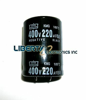 220 Uf By 400v Electrolytic Capacitor 40x28mm