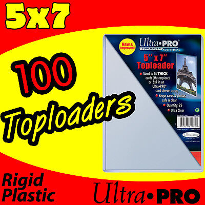 100 Ultra Pro 5x7 Rigid Top Load Photo Holder Sleeves