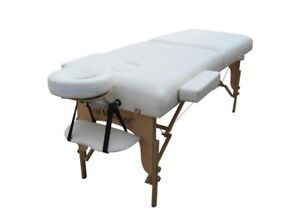 Cream PU Portable Massage Table w/Free Carry Case U1
