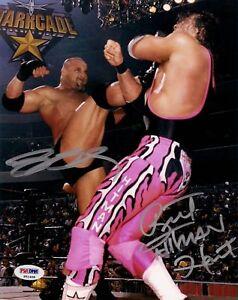 Bret-Hart-Bill-Goldberg-Signed-WWE-WCW-8x10-Photo-PSA-DNA-COA-Picture-Autograph