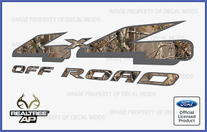 Set Of 2: 2002 Ford F150 4x4 Realtree Camo Decals Stickers - Ap Hunting Deer Gun
