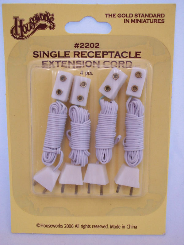 Electrical Outlet Cord 36 Miniature Dollhouse 2202 4p For 1/12 Scale Lights
