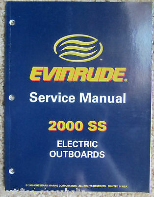 2000 Evinrude Factory Service Manual - Electric Trolling Motors - Free Shipping