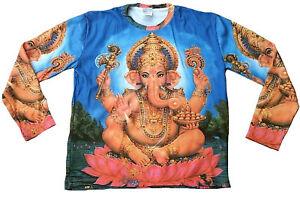 LORD-GANESH-GANESHA-Hindu-Deity-Mantra-Statue-Tattoo-Art-Designer-T-Shirt-L-XL