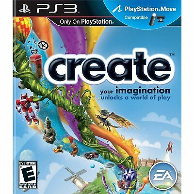Create Ps3 Move Sony Playstation 3 Ea Game Sealed