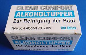 200 x Alkoholtupfer zur Hautreinigung / Nasenpflaster Alkohol Tupfer Alkoholpads
