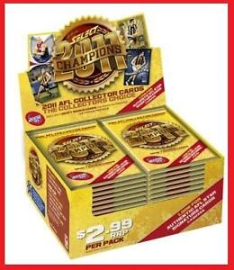 2011 AFL CHAMPIONS TRADING CARDS BOX 36 PACKETS SELECT