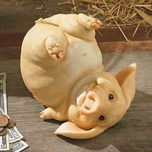 New sculpture cold cast resin peppermint oinker medium pig piggy money coin bank ebay - Resin piggy banks ...