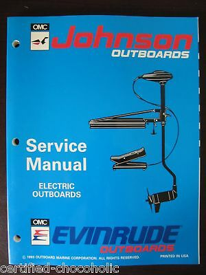 1994 Evinrude Johnson Factory Service Manual - Trolling Motors - Free Shipping