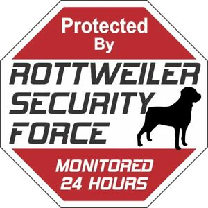Rottweiler-Security-Force-Dog-Sign