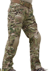 AIRSOFT PANTS TROUSERS MULTICAM WOOD MTP MC KNEE PADS 30-32 Crye Precision Style
