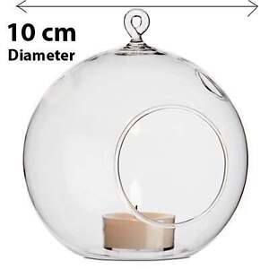 20-Clear-Glass-Hanging-Ball-Bauble-Orb-candle-holder-Decoration-wedding-table
