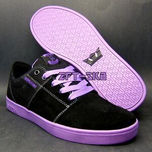 SUPRA-TK-STACKS-BLACK-PURPLE-MENS-9-5-12-SKATE-skateboard-bmx-SHOES-new