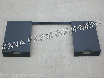 Skid Steer Quick Attach Adapter Weld On Plate Bucketspallet Forksbale Spears