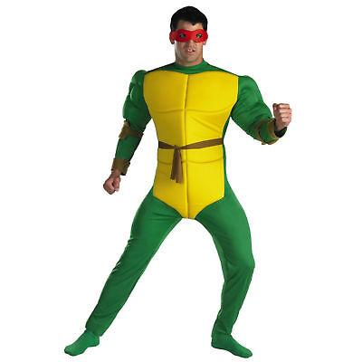 Adult TMNT Teenage Mutant Ninja Turtles Raphael Classic Muscle Turtle Costume](Adult Tmnt Costume)