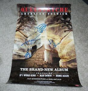 QUEENSRYCHE-BAND-SIGNED-AMERICAN-SOLDIER-PROMO-POSTER