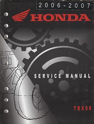2006-07 Honda Atv 4 Wheeler Trx90 Service Manual