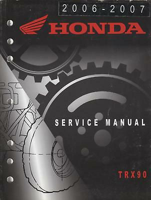 2006-07 Honda Atv 4 Wheeler Trx90 Service Manual