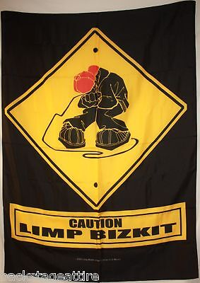 DISCONTINUED LIMP BIZKIT FRED DURST Caution Cloth Fabric Poster Flag-RARE-NEW!