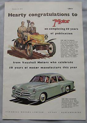 1953 Vauxhall Original advert No.2