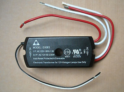 Halogen Electronic Dimmable Transformer 120vac To 12vac 230w Max Lamp Light
