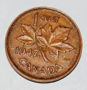Canada-1947-ML-1-Cent-One-Canadian-Penny-Nice-Coin