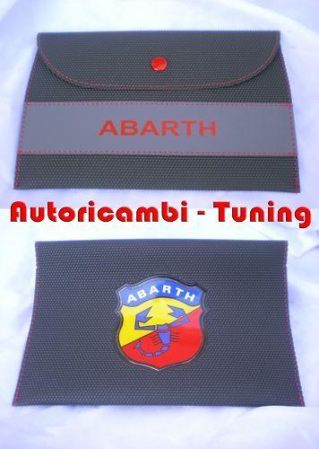 Busta Porta Documenti Abarth Fiat 500 600 Grande Punto