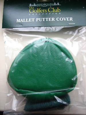 Small Mallet Golf Putter Head Cover Navy Blue With Knitted Sock New Clearance