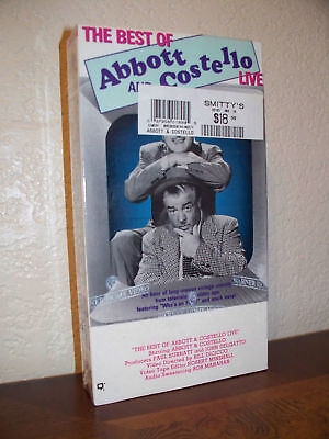 The Best Of Abbott And Costello Live (vhs,1995,b&w,new