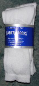 12-pair-of-Mens-White-Diabetic-Crew-Socks-sz-13-15-NWT