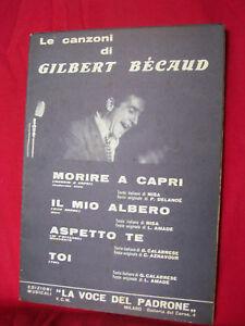 Le canzoni di GILBERT BECAUD Morire a Capri 1965 - Italia - Very happy or money back, no question asked! - Italia