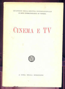 CINEMA-E-TV-QUADERNI-DELLA-MOSTRA-INT-D-039-ARTE-CINEMATOGRAFICA-DI-VENEZIA-1953