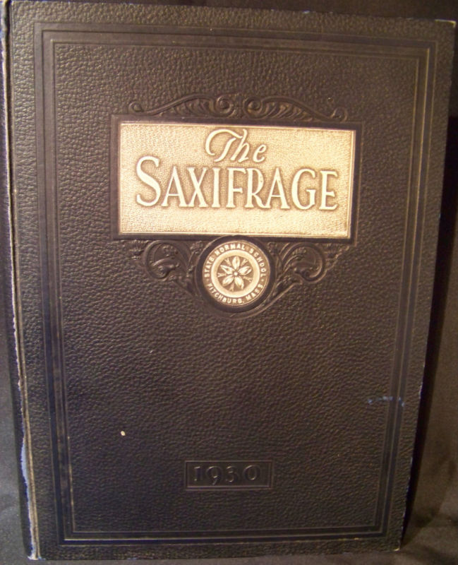 Saxifrage 1930  State Normal School Yearbook from Fitchburg. Massachusetts