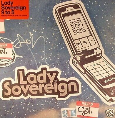 "LADY SOVEREIGN 9 To 5 UK 5-mix vinyl 12"" BRAND NEW"