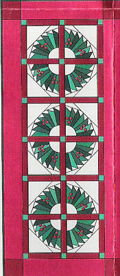 Wreaths in the Window paper piecing quilt pattern