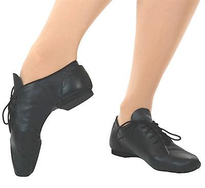 Capezio Oxford Black Jazz Shoe E Series Ej1 Child