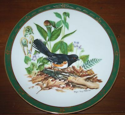 The Songbirds ~ Collector Plate ~ 1990  w/COA ~ TOWHEE ~ 8 1/4 inches dia