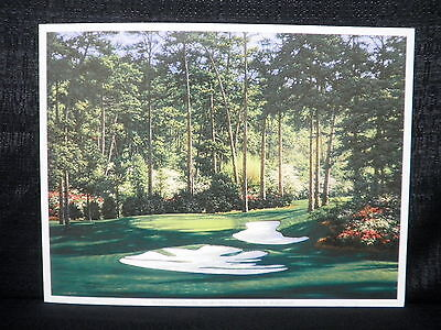 Larry Dyke Hole 10 At Augusta National Masters Golf Lithograph