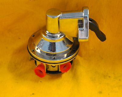 Sbc Small Block Chevy 140gph Fuel Pump Chrome High Volume 350 383 400 327 305 on Sale