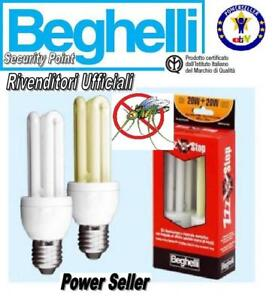 BEGHELLI-LAMPADINA-ANTI-ZANZARE-INSETTI-BASSO-CONSUMO-RISPARMIO-80-OMAGGIO