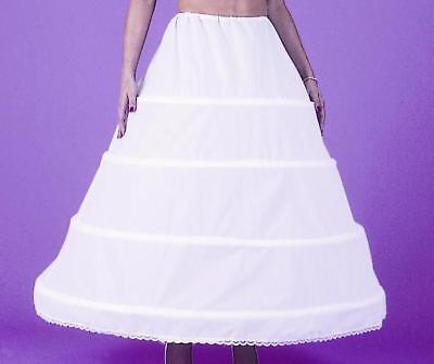4 Bone Hoop Bridal Skirt Petticoat Crinoline Wedding Slip