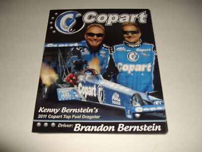 2011 Brandon Berstein Copart Top Fuel Nhra Postcard